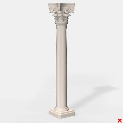 column architectural 3d model