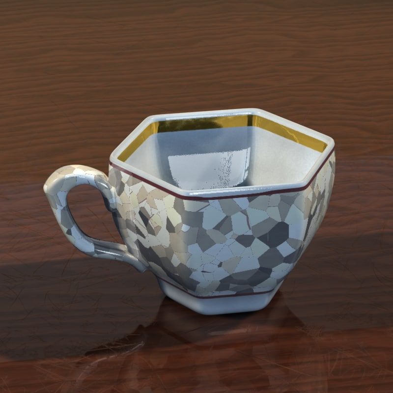 cup photorealistic shaders 3d model