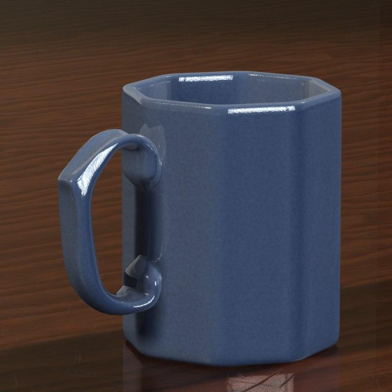 photorealistic cup 3d model