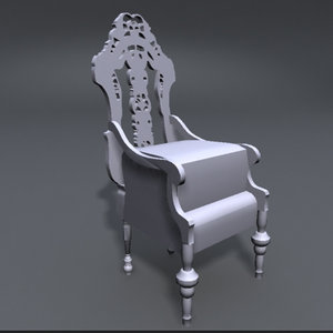 3d model fancy chair