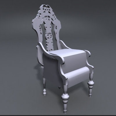 3d model fancy chair