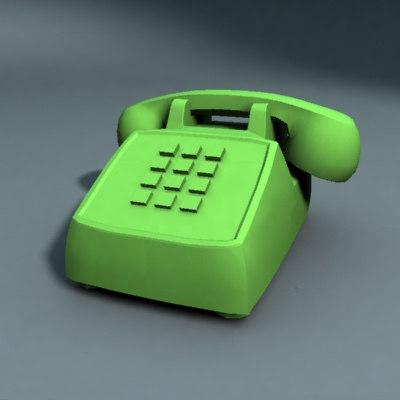 phone telephone 3d model