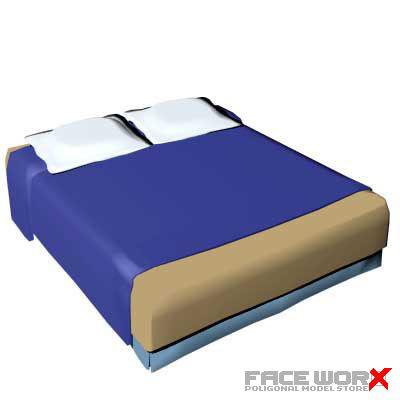 bed interior 3d model