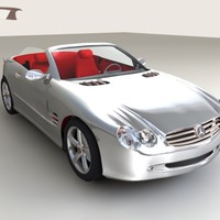 mercedes 500 sl 3d model