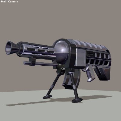 obj machine gun