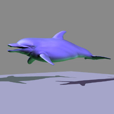 3d marine animals character