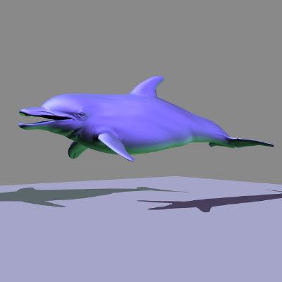 3d marine animals character