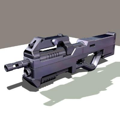 pulse rifle 3d obj