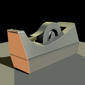 tape dispenser 3d model