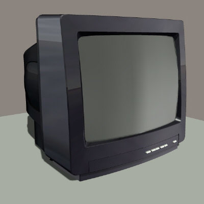tv television 3d model
