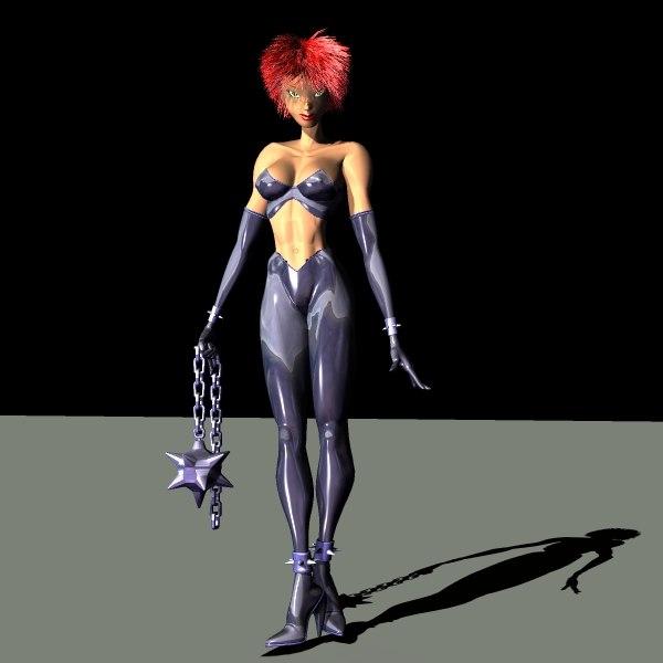 3d model fantasy characters woman