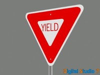 3d model yield sign