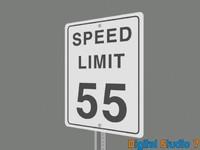 3d speed limit 55 sign model