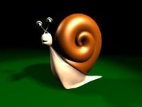 snail character 3d model