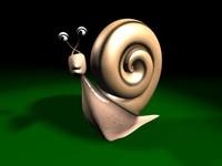 3d snail character model