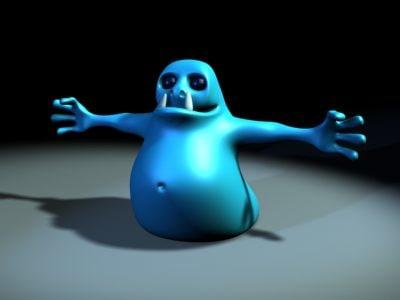 3d monster blob model