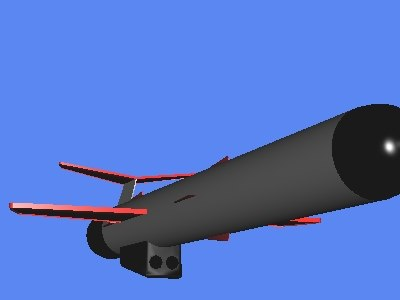 3d model tomahawk cruise missile