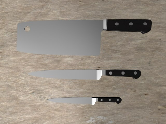3d 3ds cutlery cookware