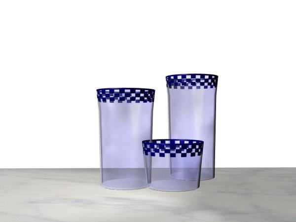 brasserie glassware glass 3d 3ds