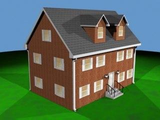 3ds max medium house
