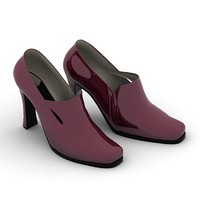 patent-leather woman shoes 3d model
