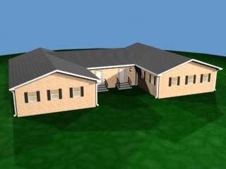3d model of medium house