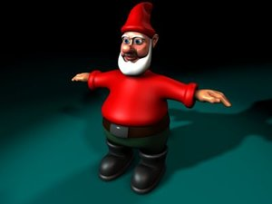 3d model gnome character