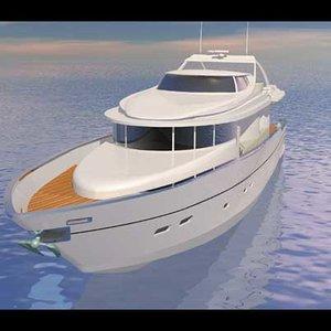 3d boat tempest model
