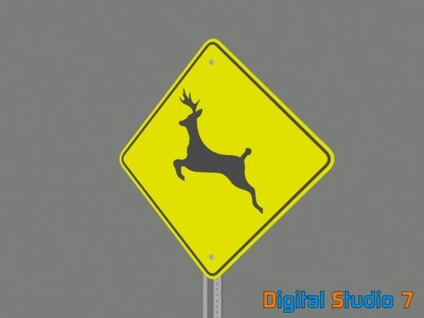 deer crossing sign 3ds
