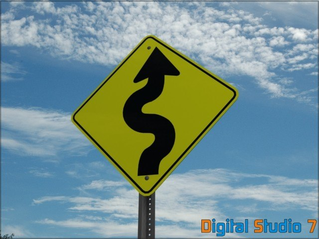 curvy road sign 3ds