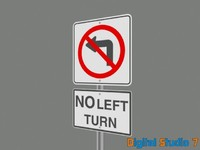 no left turn w text - 3ds.zip