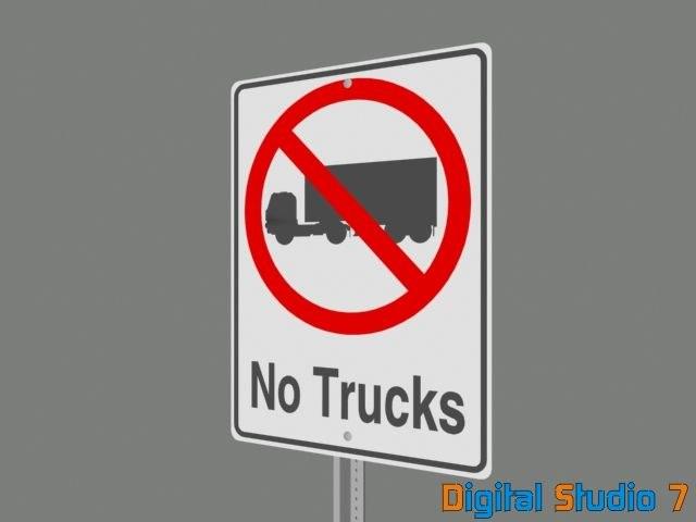 3ds max trucks sign