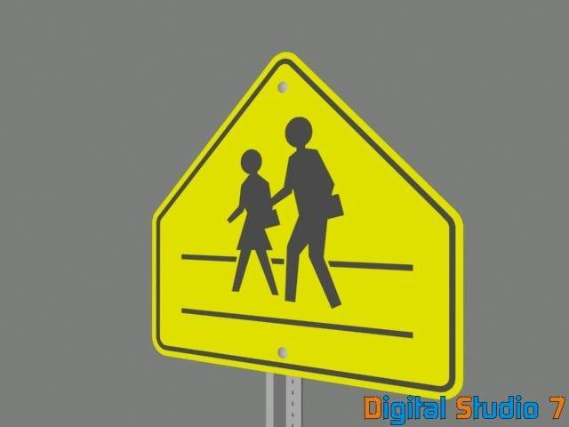 school sign 3d model