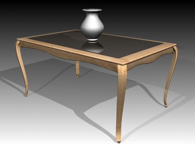 3d table furniture model