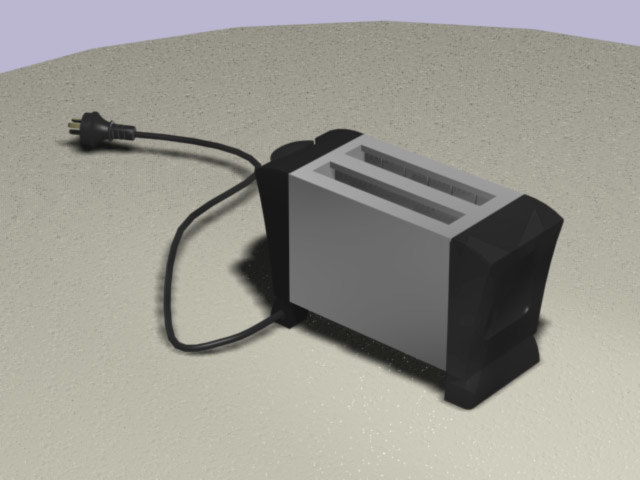 3d model of toaster kitchen