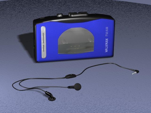 3d model walkman earphones