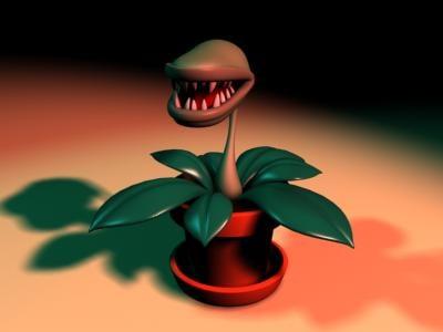 carnivorous flesh eating plant 3d model