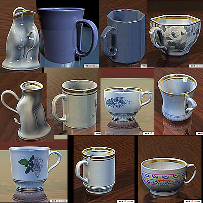 3d cup photorealistic model