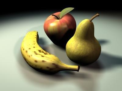 fruits 3d model