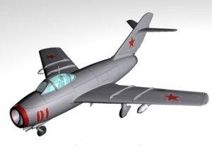 3d model soviet fighter plane