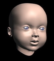 baby face 3d model