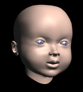 baby face 3d model