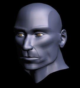 3d model gentle face