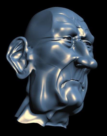3d old man face model