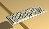 3d model of keyboard