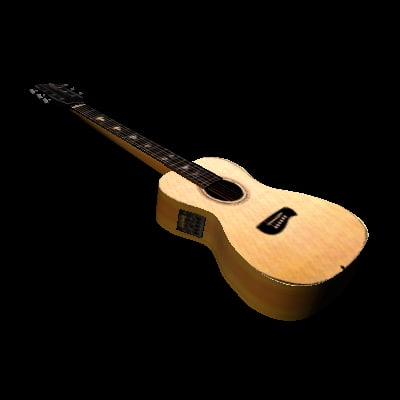 3d model acoustic w3d shockwave guitar