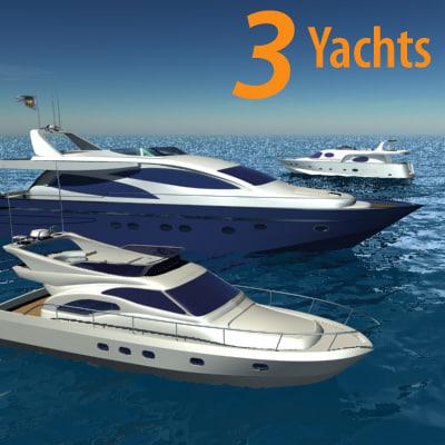 luxury yacht 3d model