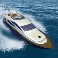yacht motorboat 3d model