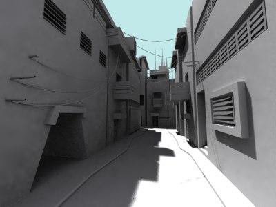 modular urban city scene 3d model