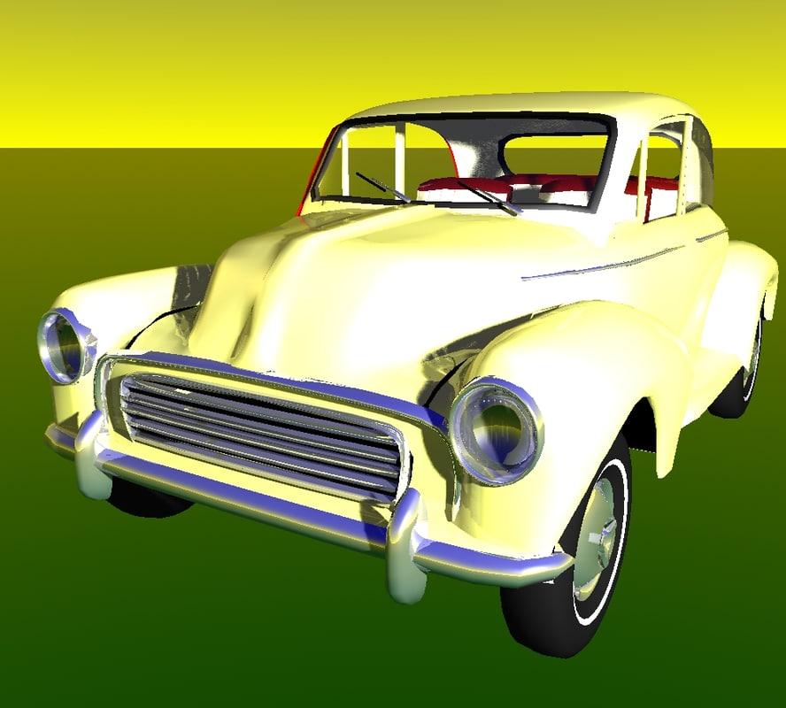 3d lightwave moggy car model